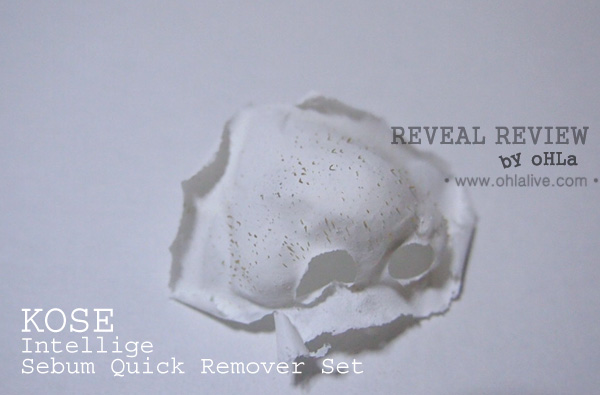 Kose Intellige Sebum Quick Remover Result