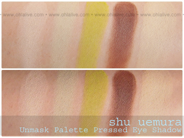SHUUEMURA Unmask Eye Palette Green swatched