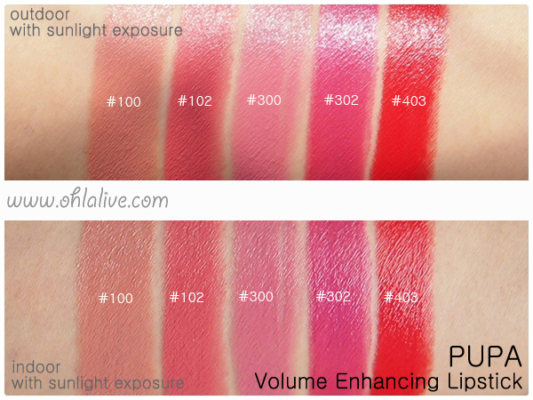 PUPA Volume Lipstick - swatched 1