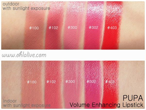 PUPA Volume Lipstick - swatched 1