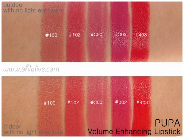 PUPA Volume Lipstick - swatched 2