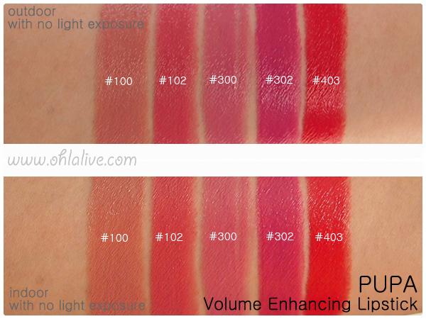 PUPA Volume Lipstick - swatched 2