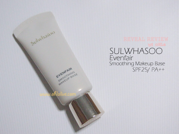 SULWHASOO, Evenfair Smoothing Makeup Base SPF25 PA++size 30 ml., shelflife 12M, counter price THB 1,900.-