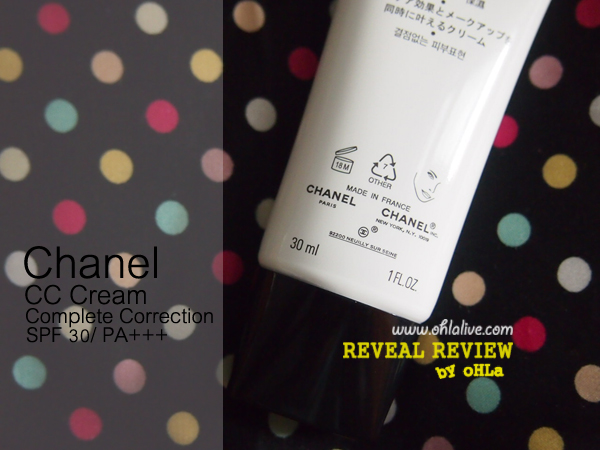 Chanel CC Cream Complete Correction SPF30/ PA+++