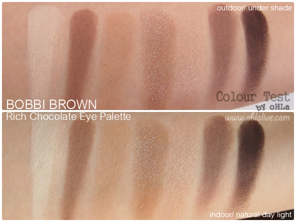 Bobbi Brown Rich Chocolate Eye Palette - swatched