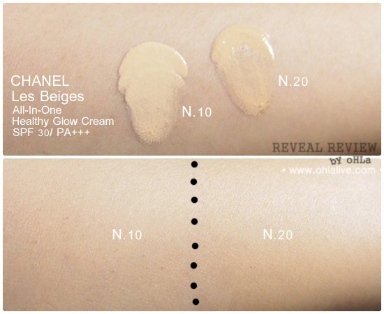 Chanel Les Beiges - swatched