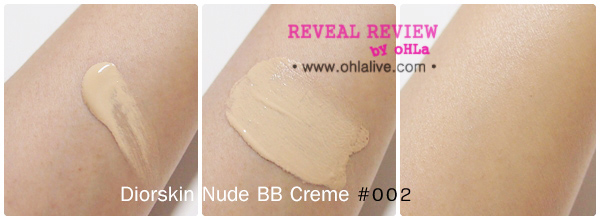 DIORSkin Nude BB Creme 002 - swatched
