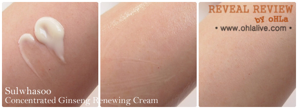 Sulwhasoo Concentrated Ginseng Renewing Cream - test