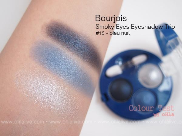 colour test by ohla bourjois smoky eyes eyeshadow trio. Black Bedroom Furniture Sets. Home Design Ideas