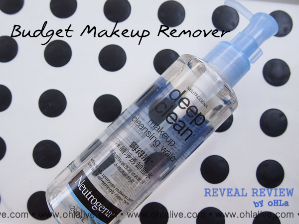 Budget Makeup Remover - Neutrogena Deep Clean Makeup Cleansing Water